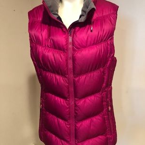 Lululemon Quilted Goose Down Vest-Magenta -Medium